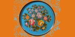 Соната цветов.  Тагильский расписной поднос